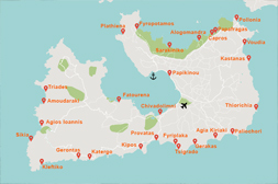 Milos island beaches map