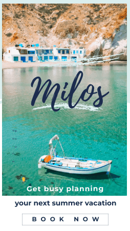 Milos island summer vacations - Book now